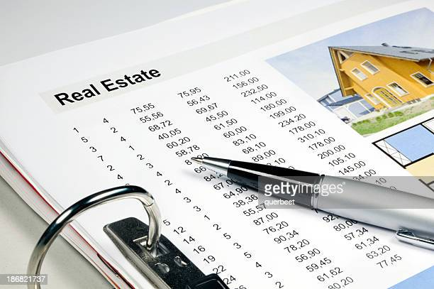 Real Estate - folder with data