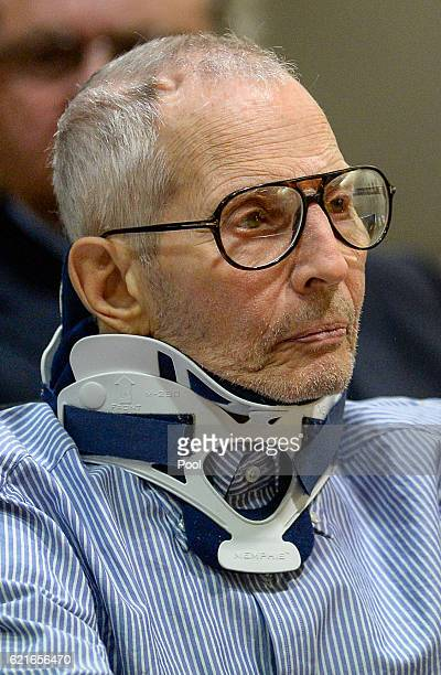 Real Estate Heir Robert Durst appears in the Airport Branch of the Los Angeles County Superior Court on November 7 2016 in Los Angeles California...