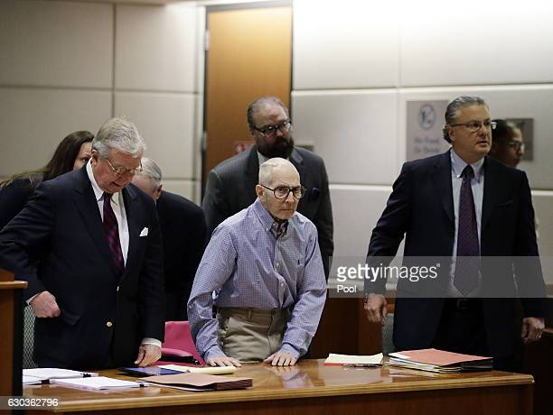 Real estate heir Robert Durst appears in the Airport Branch of the Los Angeles County Superior Court with attorneys Dick DeGuerin David Z Chesnoff...