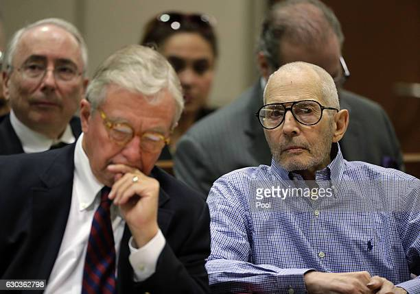 Real estate heir Robert Durst appears in the Airport Branch of the Los Angeles County Superior Court for a preliminary hearing on December 21 2016 in...