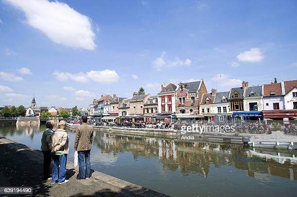 """Real estate in Amiens : real estate, """"quai Belu"""", quay alongside the Somme river in the district of Saint Leu."""
