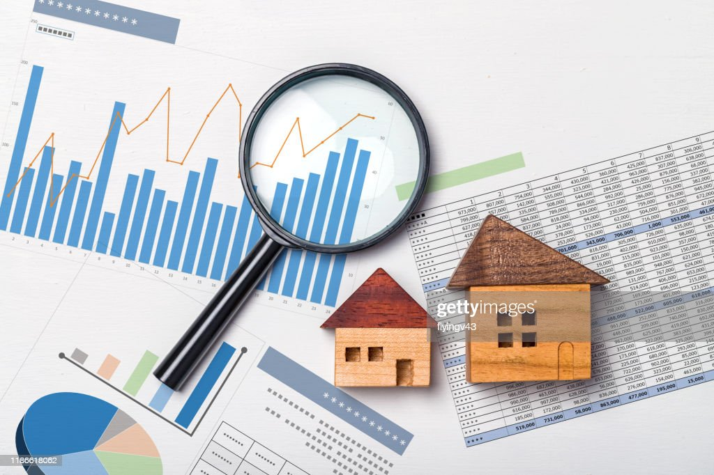 Real estate investment, Real estate value : Stock Photo