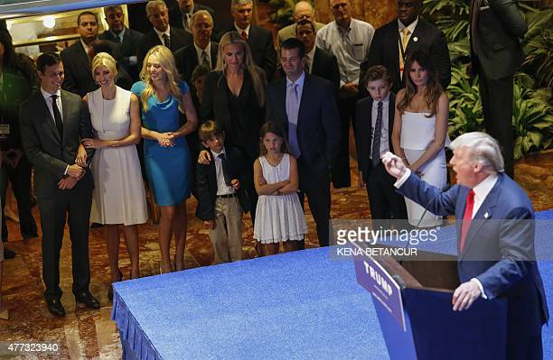 Real estate investor Donald Trump makes his announcement that he will run for the 2016 presidential elections at the Trump Tower in New York on June...