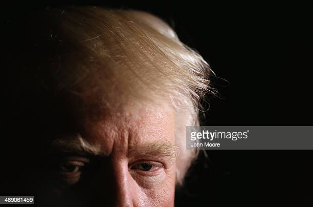 Real estate magnate Donald Trump speaks at the New York County Republican Committee Annual Lincoln Day Dinner on February 12 2014 in New York City...