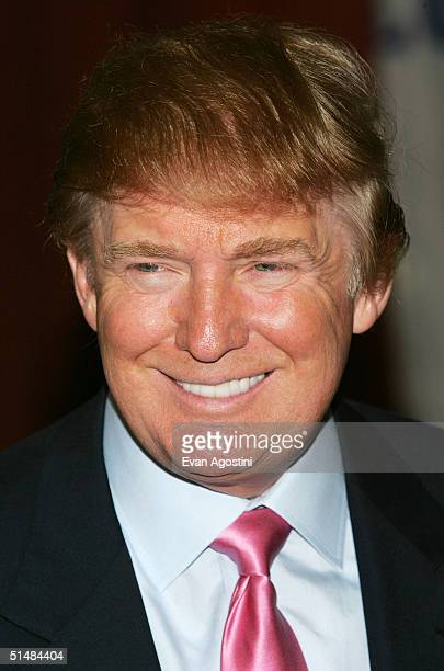 Real Estate mogul and TV personality Donald Trump attends the Donald Trump Friars Club Roast Luncheon at the New York Hilton October 15 2004 in New...