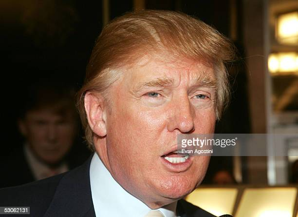 Real Estate mogul and TV personality Donald Trump introduces his new Signature Watch Collection at Macy's Herald Square June 13 2005 in New York City