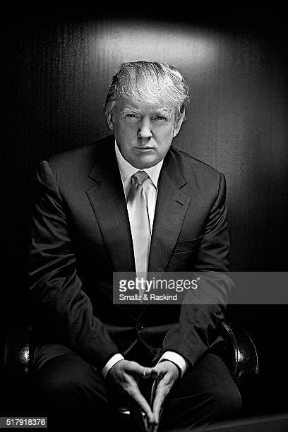 Real estate mogul Donald Trump poses for a portrait session in New York for Power Magazine on July 10 2008