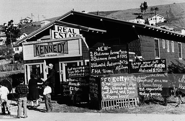 Real estate office in Oakland, California.