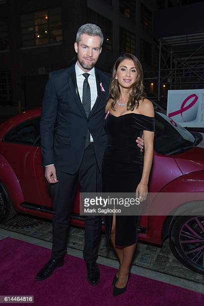 Real Estate Personality Ryan Serhant and Emilia Serhant attend The Pink Agenda 2016 Gala at Three Sixty on October 13 2016 in New York City