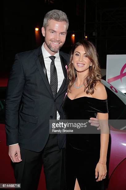 Real Estate Personality Ryan Serhant and Emilia Serhant attend The Pink Agenda 2016 Gala arrivals at Three Sixty on October 13 2016 in New York City