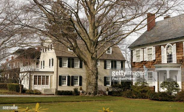Real estate photograph of a house located at 112 Ocean Avenue in the town of Amityville New York March 31 2005 The Amityville Horror house rich...