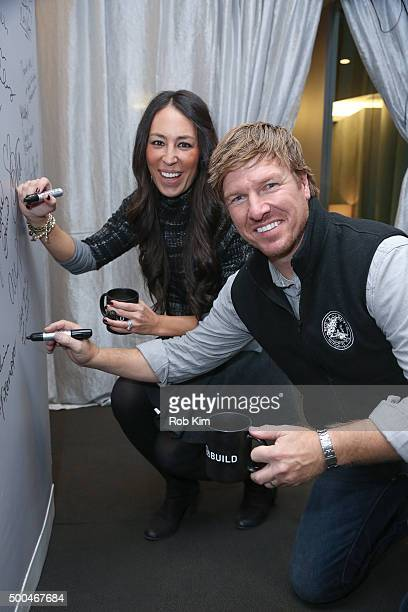 Real estate pros Chip Gaines and Joanna Gaines attend AOL Build Presents 'Fixer Upper' at AOL Studios In New York on December 8 2015 in New York City