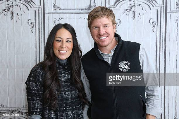 Real estate pros Chip Gaines and Joanna Gaines attend AOL Build Presents Fixer Upper at AOL Studios In New York on December 8 2015 in New York City
