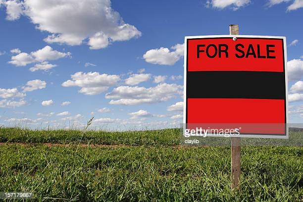 real estate sale, blank sign