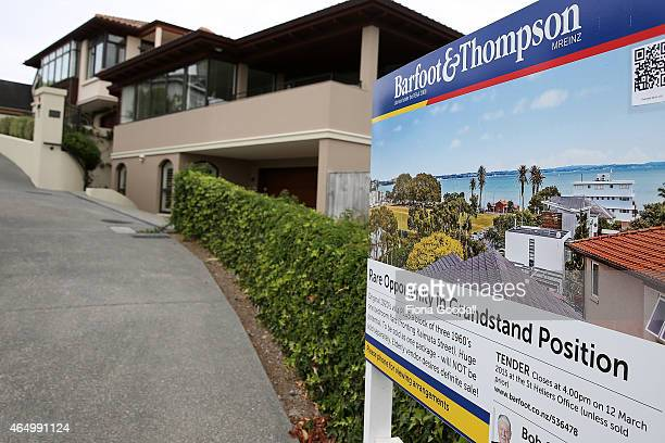 Real estate signs in Auckland's eastern suburbs on March 3 2015 in Auckland New Zealand Recent figures show that the value of New Zealand's average...