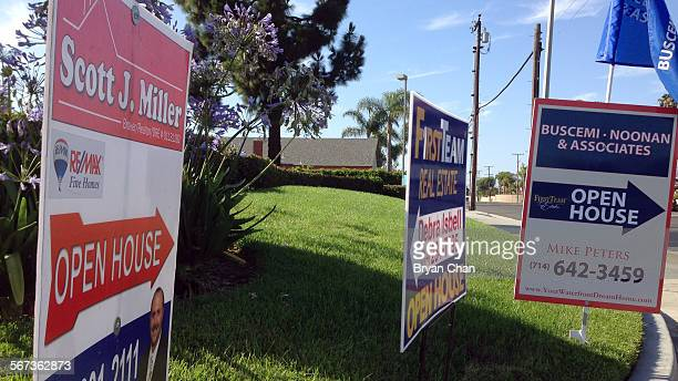 Real estate signs in Huntington Beach point the way to open houses After a topsyturvey last few years Southern California's housing market is...