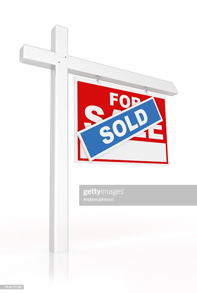 Real Estate Sold Sign : Stock Photo