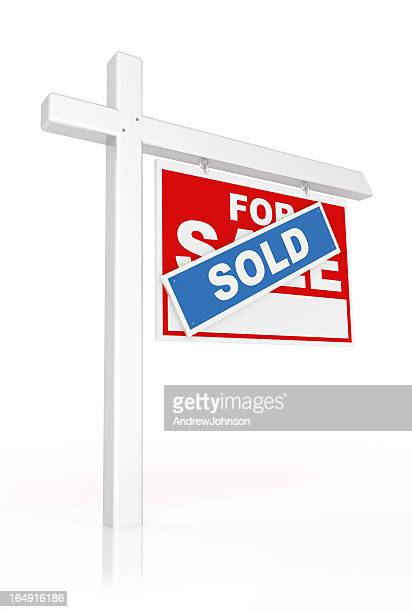 real estate sold sign - vendor stock pictures, royalty-free photos & images
