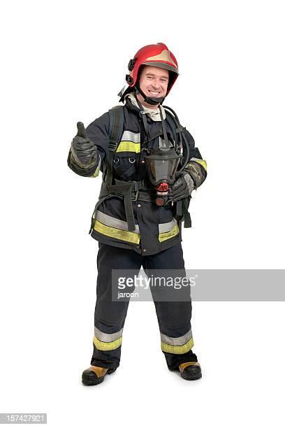 echten Feuerwehrmann