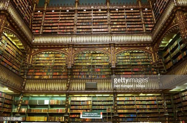 real gabinete portuguesa de leitura, rio de janeiro - cultura portuguesa foto e immagini stock