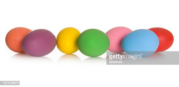 Real hand colored Easter eggs
