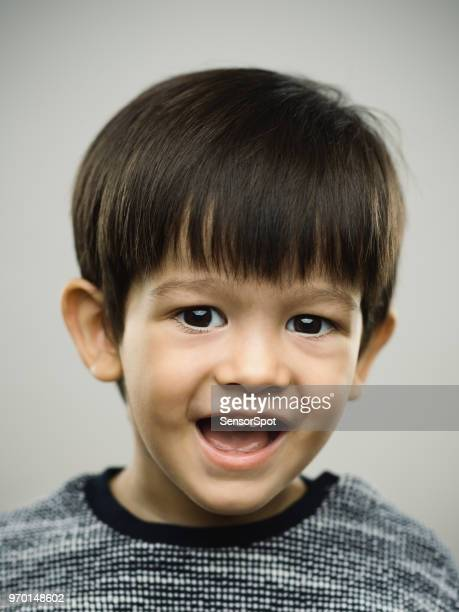 Real happy kid laughing