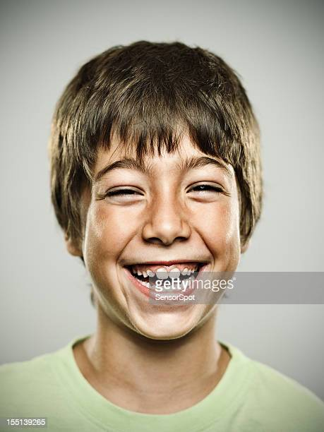 real happy kid - toothy smile stock pictures, royalty-free photos & images