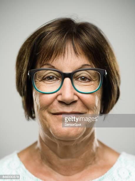 Wirklich glücklich senior Frau Porträt