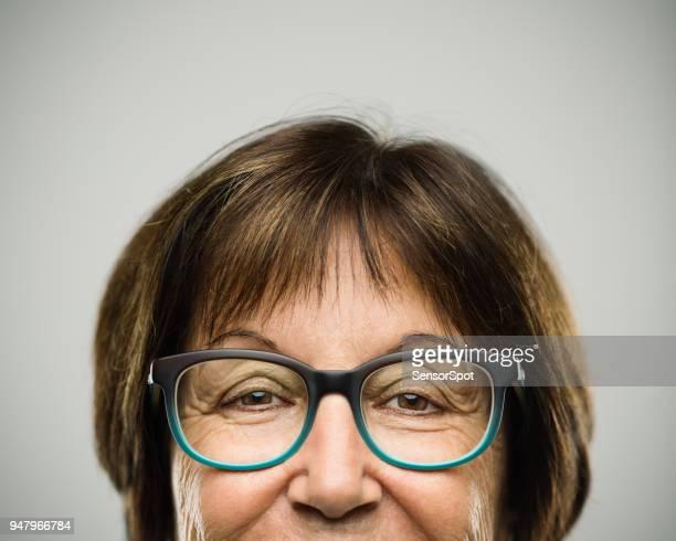 Real happy senior woman portrait
