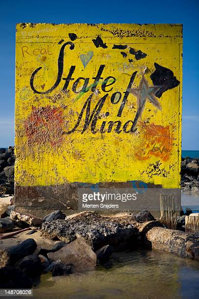 real hawaii state of mind shoreside painting. - merten snijders stock-fotos und bilder