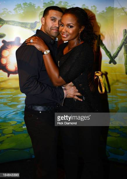 """Real Housewives of Atlanta"""" cast member Phaedra Parks and Apollo Nida attend Cirque du Soleil TOTEM Premiere at Atlantic Station on October 26, 2012..."""