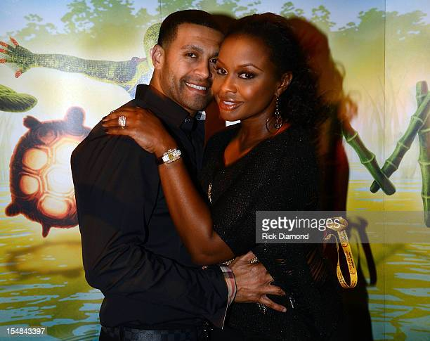 Real Housewives of Atlanta cast member Phaedra Parks and Apollo Nida attend Cirque du Soleil TOTEM Premiere at Atlantic Station on October 26 2012 in...