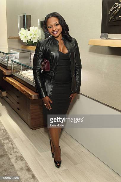 Real Housewives of Atlanta cast member Phaedra Parks attends the grand reopening of the David Yurman boutique on November 13 2014 in Atlanta Georgia