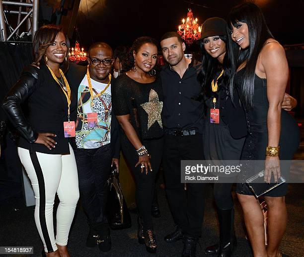 "Real Housewives of Atlanta"" cast members Kandi Burruss, Derek J, Phaedra, Apollo Nida, Cynthia Bailey and Marlo Hampton attend Cirque du Soleil TOTEM..."
