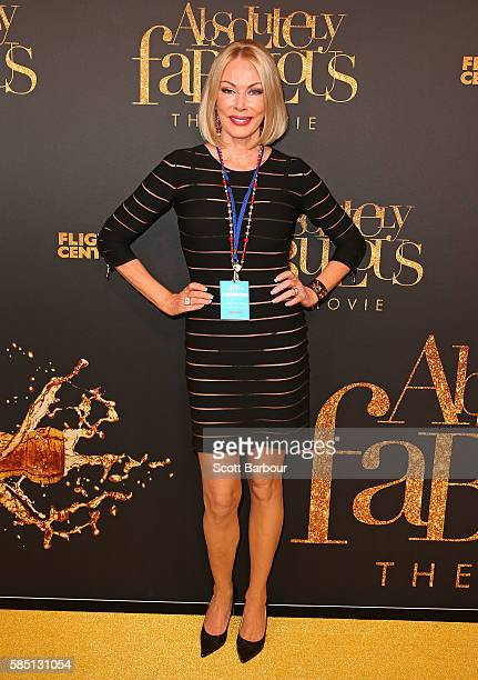 Real Housewives of Melbourne's Janet Roach arrives ahead of the Absolutely Fabulous The Movie Melbourne premiere at Village Cinemas Crown on August 2...