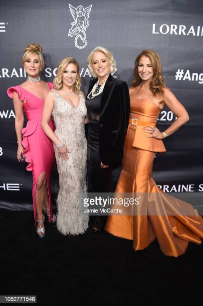 Real Housewives of New York City Sonja Morgan Ramona Singer and Dorinda Medley and Personality Jill Zarin attend the 2018 Angel Ball hosted by...