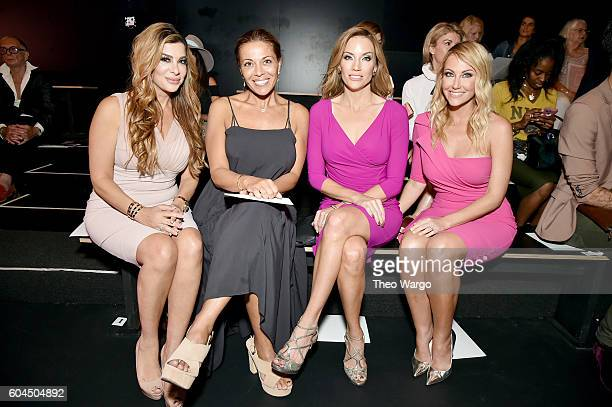 Real Housewives Siggy Flicker Dolores Catania Tiffany Hendra and Cary Deuber attends the Chiara Boni La Petite Robe fashion show during New York...