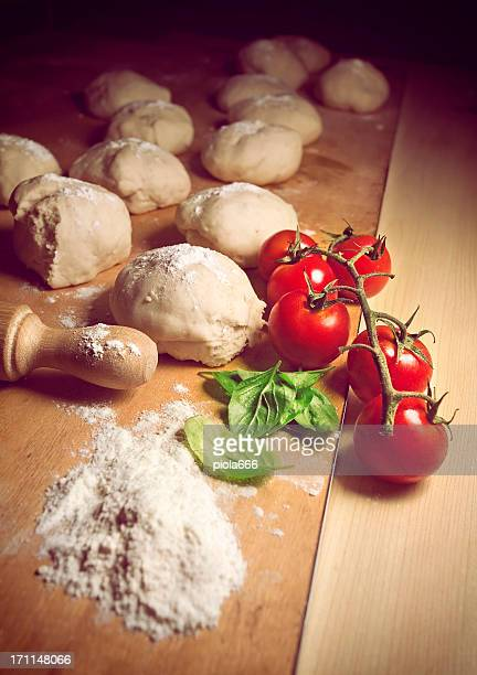 Real italian pizza ingredients