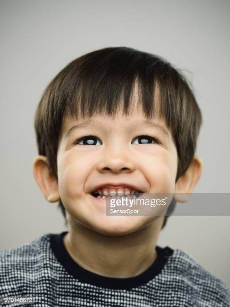 Real kid with beautiful smile