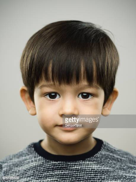 Real kid with blank expression