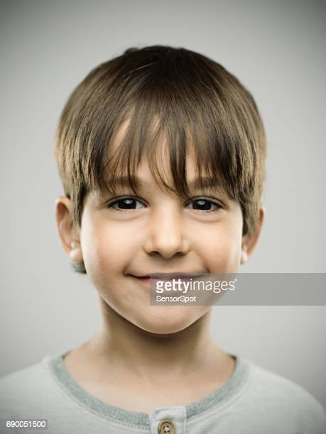 Real kid with sweet smile