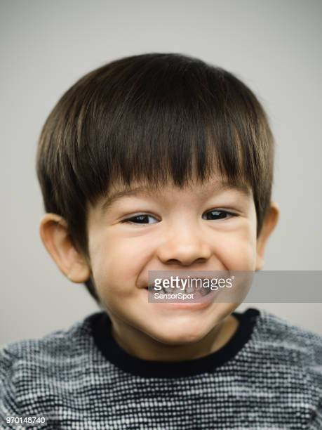 Real kid with toothy smile