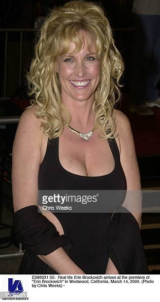 Real life Erin Brockovich arrives at the premiere of Erin Brockovich in Westwood California March 14 2000