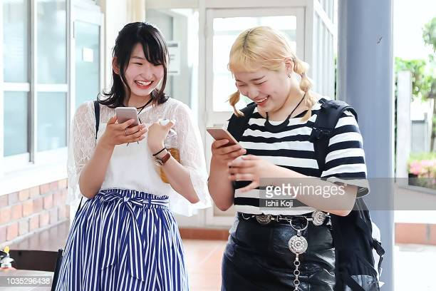 real life of japanese students - 女子大生 ストックフォトと画像