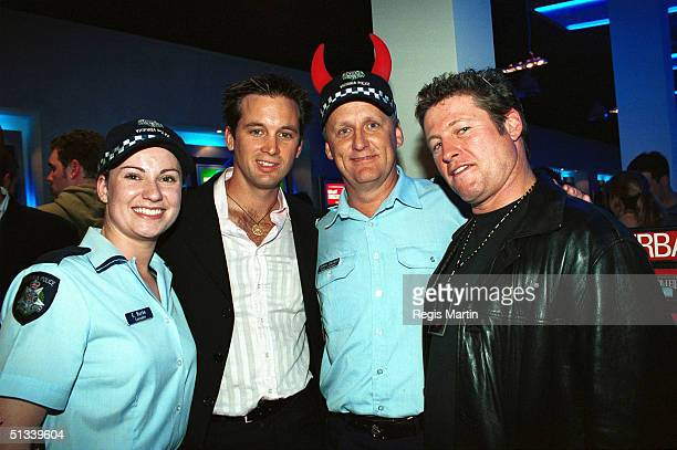 APRIL 2002 Real life policewoman Constable E Burke Ian Stenlake Real life policeman senior constable Simon Gallant and Peter Phelps The party for the...