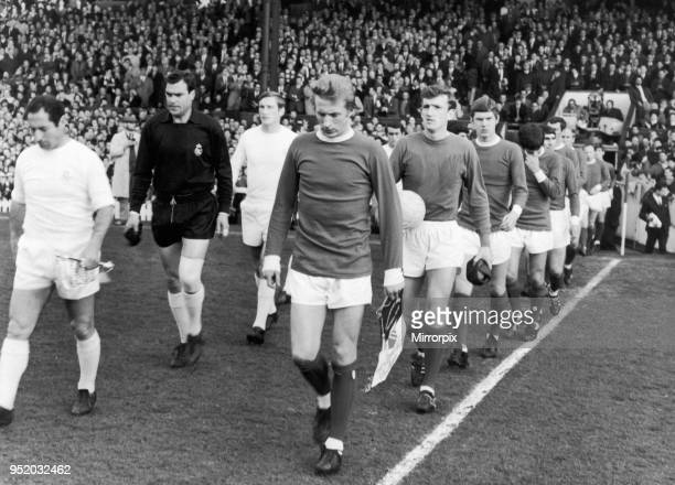 Real Madrid and Manchester United take to the field for the first leg of the European Cup Semi Final at Old Trafford led by the captains Francisco...