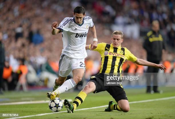 FUSSBALL CHAMPIONS Real Madrid Borussia Dortmund Angel Di Maria gegen Sven Bender