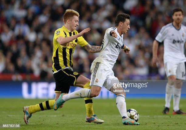 FUSSBALL CHAMPIONS Real Madrid Borussia Dortmund Marco Reus gegen Mesut Oezil