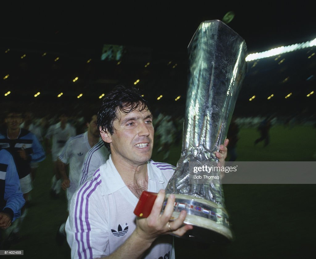 Real Madrid Win The UEFA Cup : News Photo