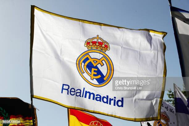 Real Madrid Flag Photos And Premium High Res Pictures Getty Images